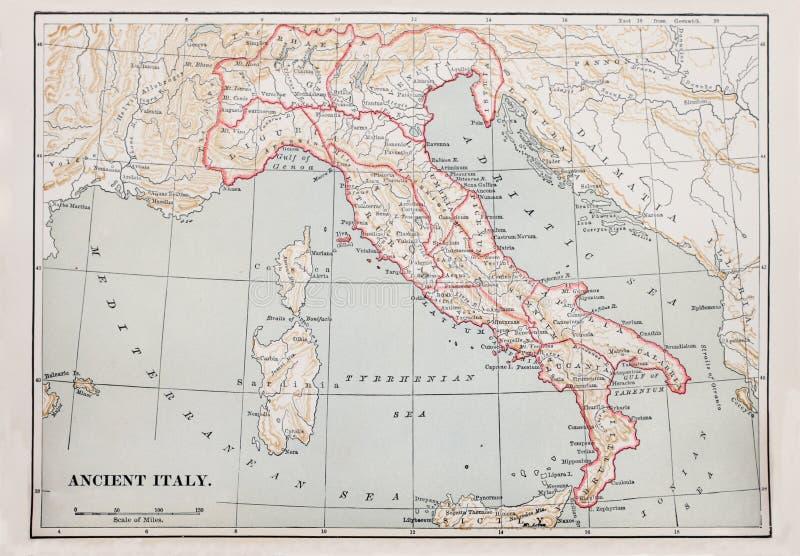 αρχαίος χάρτης της Ιταλία&sig στοκ φωτογραφία