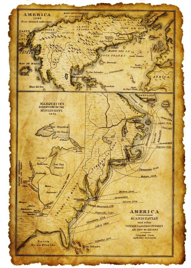 Αρχαίος χάρτης στοκ εικόνα με δικαίωμα ελεύθερης χρήσης