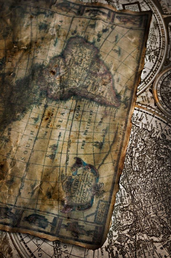αρχαίος χάρτης στοκ φωτογραφία
