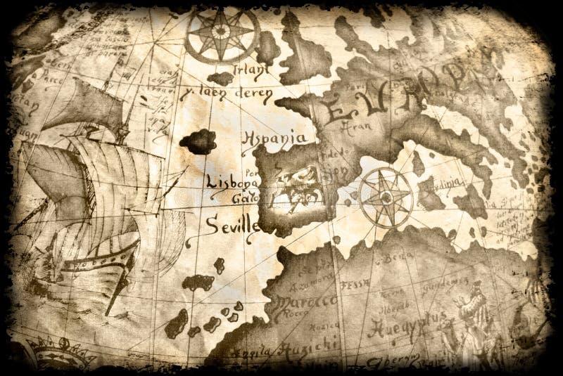 αρχαίος χάρτης grunge στοκ εικόνες