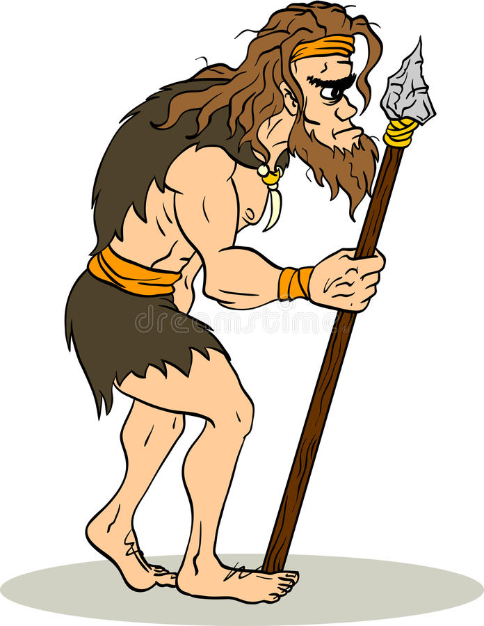 Αρχαίο άτομο απεικόνιση αποθεμάτων