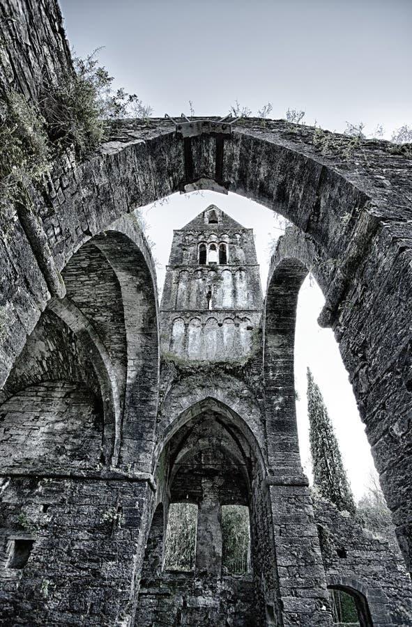 Αρχαίο αβαείο στις καταστροφές, το μοναστήρι της Σάντα Μαρία Valle Christi που τοποθετείται Valle Christi, σε Rapallo, provin της στοκ φωτογραφίες με δικαίωμα ελεύθερης χρήσης