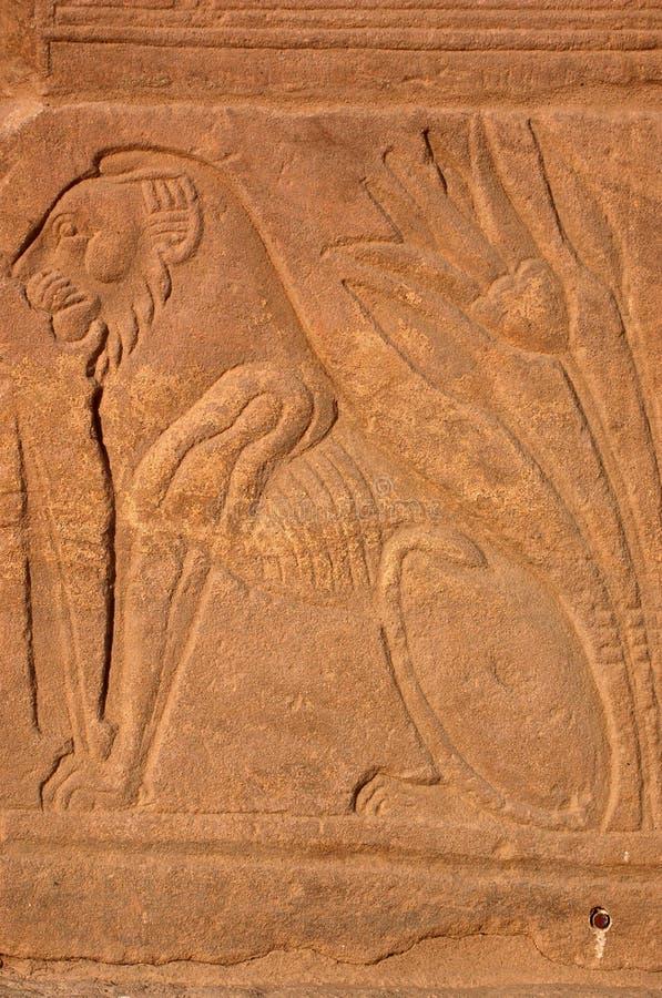 αρχαίο αιγυπτιακό λιοντά&r στοκ εικόνα με δικαίωμα ελεύθερης χρήσης