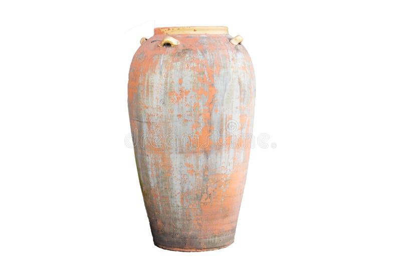 Αρχαίο βάζο σε ένα όμορφο άσπρο υπόβαθρο, κατάλληλο για το σχέδιο στοκ φωτογραφίες