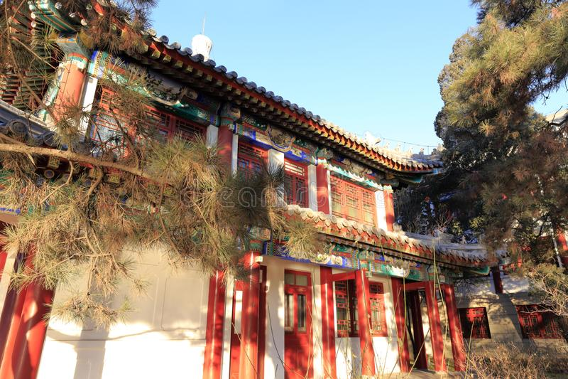 Αρχαίο βασιλικό παλάτι στο πανεπιστήμιο του Πεκίνου, πλίθα rgb στοκ εικόνες με δικαίωμα ελεύθερης χρήσης