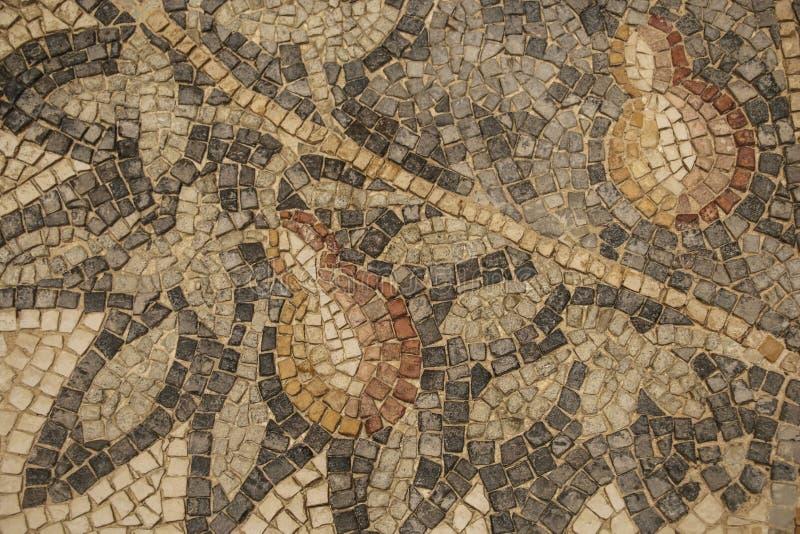 Αρχαίο βυζαντινό μωσαϊκό πατωμάτων από τις εκκλησίες της πόλης στοκ εικόνα με δικαίωμα ελεύθερης χρήσης