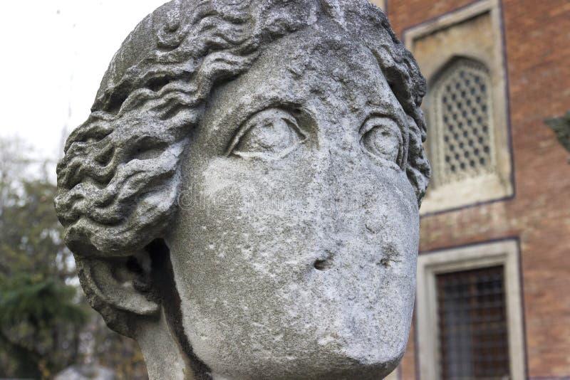 Αρχαίο γλυπτό πορτρέτου μιας γυναίκας στοκ φωτογραφίες με δικαίωμα ελεύθερης χρήσης