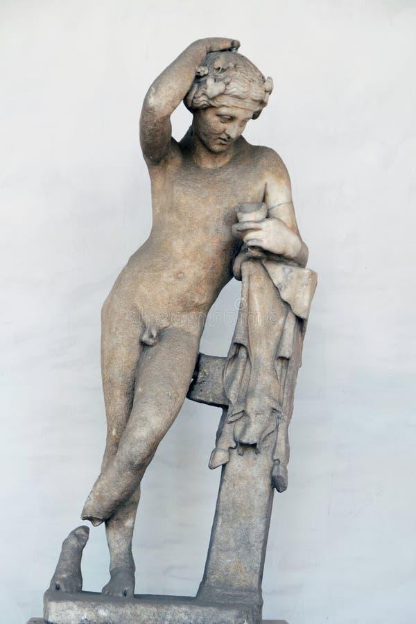 Αρχαίο γλυπτό του Dionisio στοκ φωτογραφίες με δικαίωμα ελεύθερης χρήσης