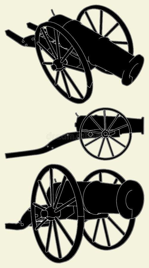 αρχαίο διάνυσμα πυροβόλω ελεύθερη απεικόνιση δικαιώματος