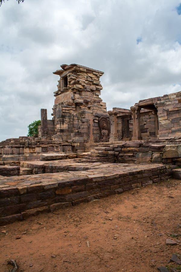 Αρχαίο είδωλο Budhha σε Sanchi Stupa Ινδία στοκ φωτογραφία με δικαίωμα ελεύθερης χρήσης
