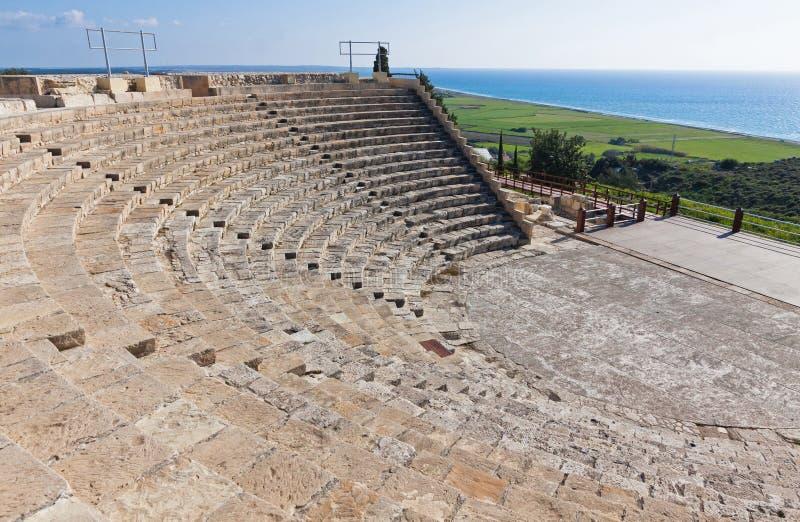 Αρχαίο ελληνορωμαϊκό θέατρο στο Κούριο, Κύπρος στοκ εικόνες με δικαίωμα ελεύθερης χρήσης