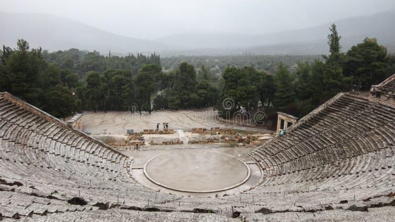 Αρχαίο θέατρο Epidauros στοκ φωτογραφία με δικαίωμα ελεύθερης χρήσης