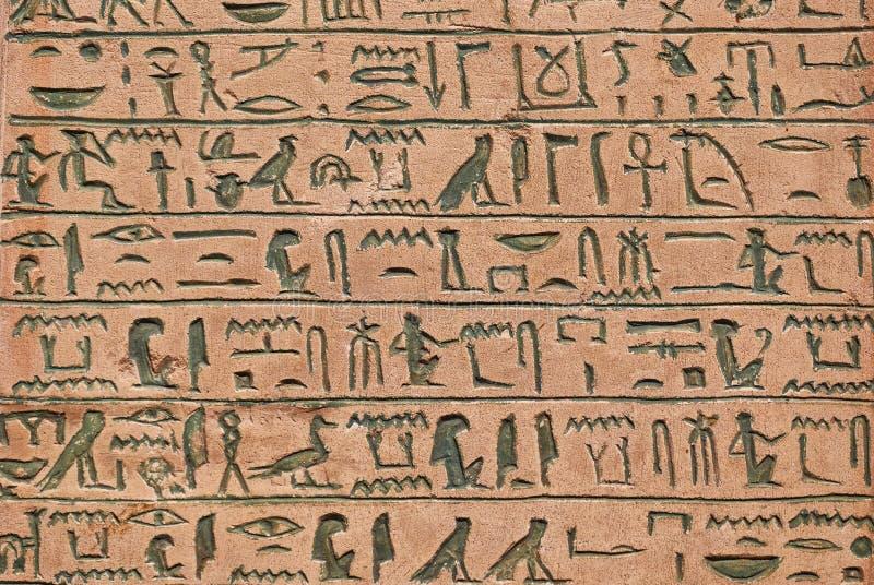 Αρχαίο ιερογλυφικό χειρόγραφο στοκ εικόνα με δικαίωμα ελεύθερης χρήσης