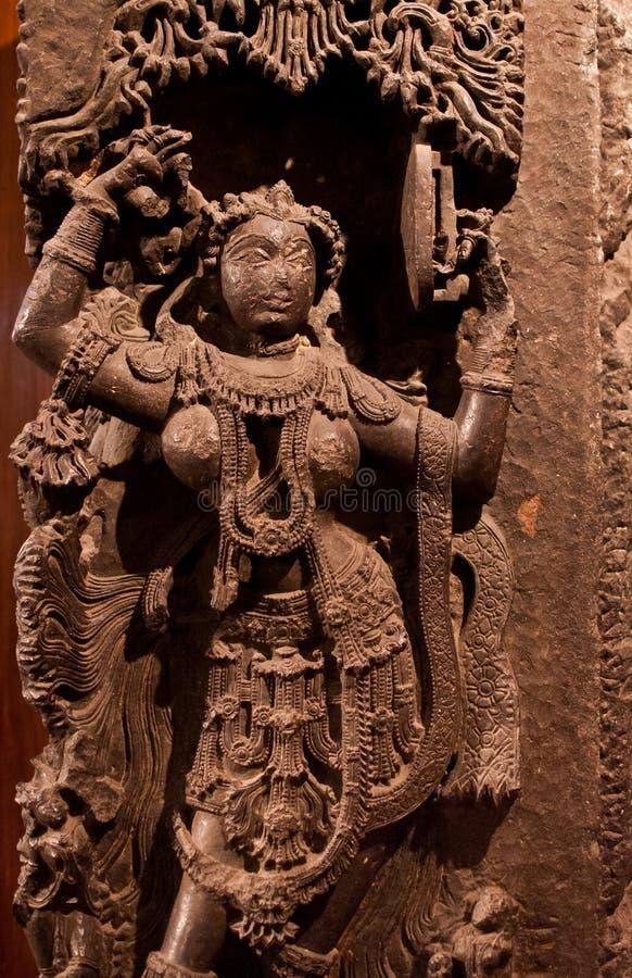 αρχαίο ινδικό γλυπτό στοκ εικόνες