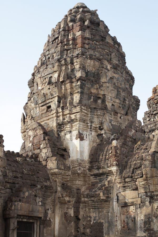 Αρχαίο κάστρο της Καμπότζης ύφους, προορισμός ταξιδιού, ιστορική πέτρα τούβλου ορόσημων στοκ εικόνες
