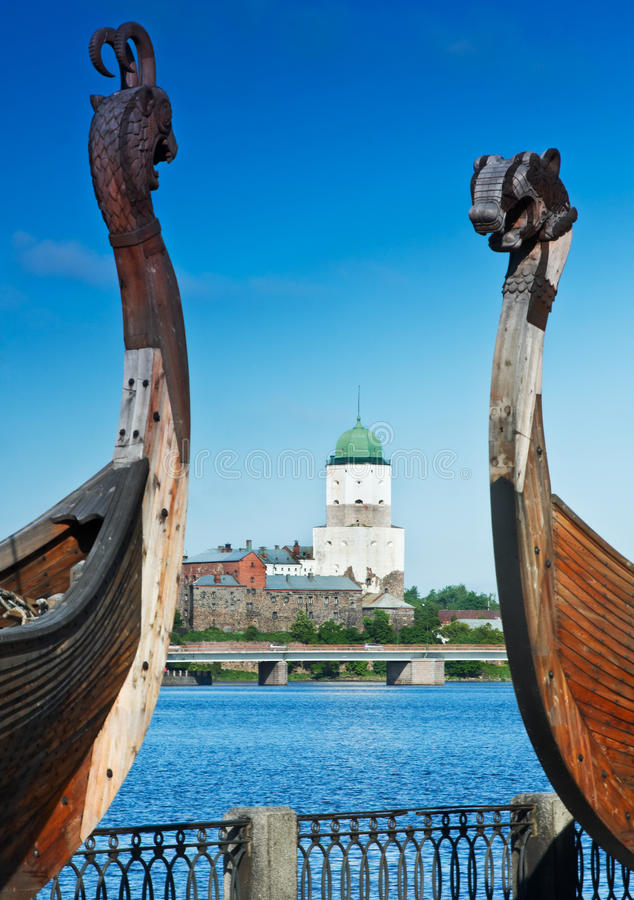 αρχαίο κάστρο drakkar Βίκινγκ vyborg στοκ φωτογραφία με δικαίωμα ελεύθερης χρήσης