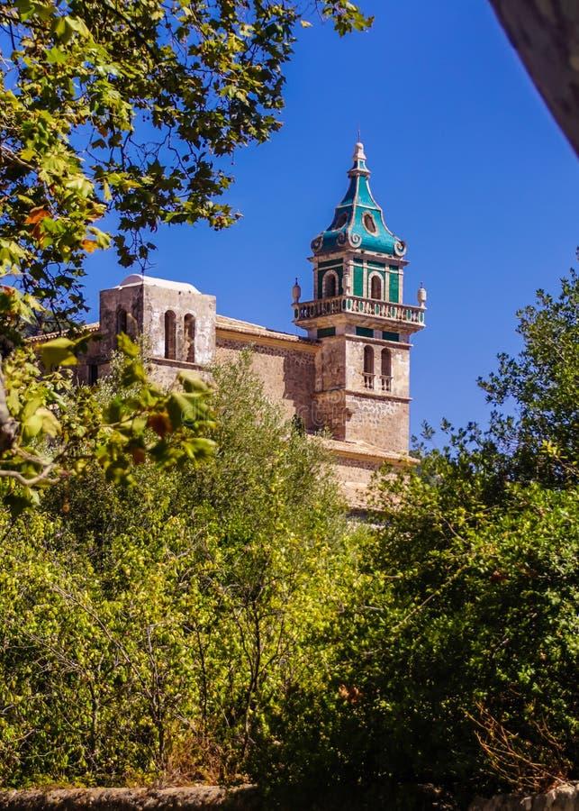 Αρχαίο καρτεσιανό μοναστήρι σε Valdemossa, Πάλμα ντε Μαγιόρκα στοκ εικόνα