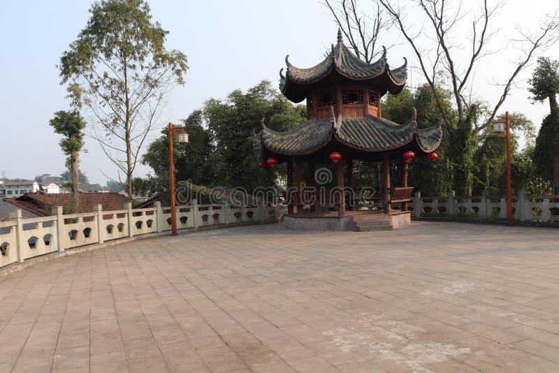 Αρχαίο κινεζικό οκτάγωνο περίπτερων κινεζικό αρχαίο οκτάγωνο περίπτερο κινεζικό αρχαίο Bajia περίπτερων της Κίνας αρχαίο οκτάγωνο στοκ φωτογραφία με δικαίωμα ελεύθερης χρήσης