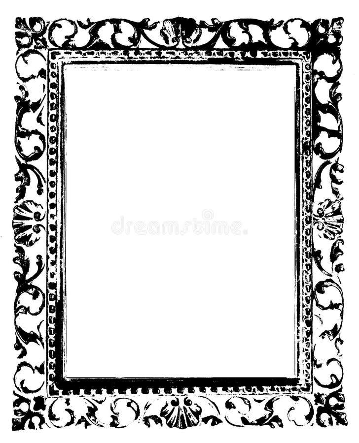 αρχαίο μαύρο πλαίσιο απεικόνιση αποθεμάτων