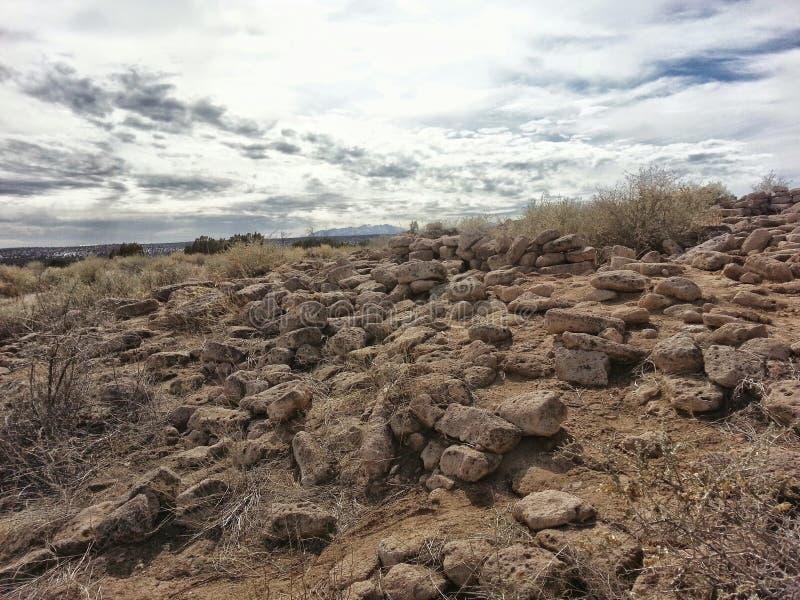 Αρχαίο Νέο Μεξικό Tsankawe καταστροφών στοκ φωτογραφία