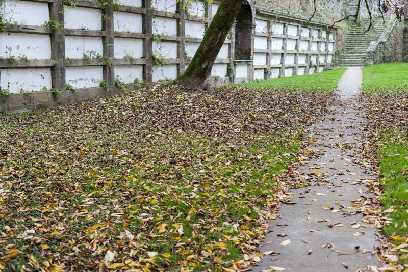 Αρχαίο νεκροταφείο, πάρκο, Parque de SAN Domingos de Bonaval Santia στοκ εικόνες με δικαίωμα ελεύθερης χρήσης