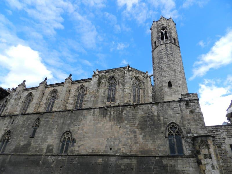 Αρχαίο οχυρό στην παλαιά πόλη στη Βαρκελώνη στοκ φωτογραφίες με δικαίωμα ελεύθερης χρήσης