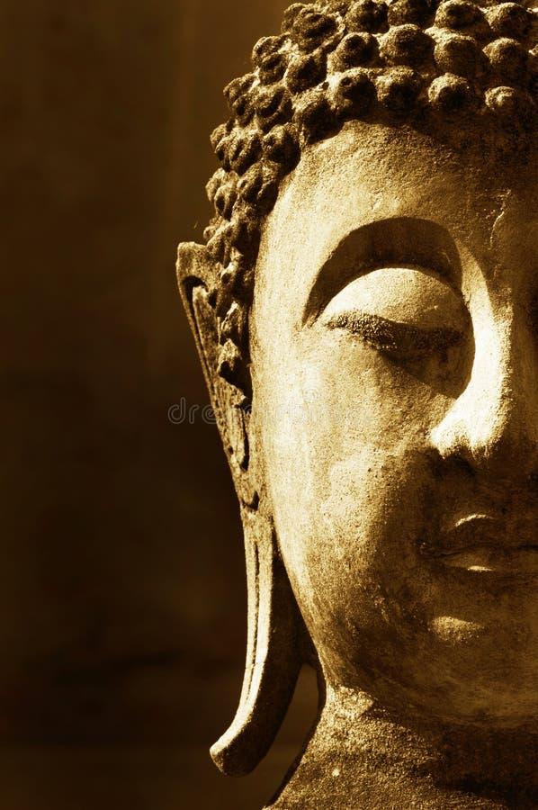 αρχαίο πρόσωπο του Βούδα στοκ εικόνα με δικαίωμα ελεύθερης χρήσης