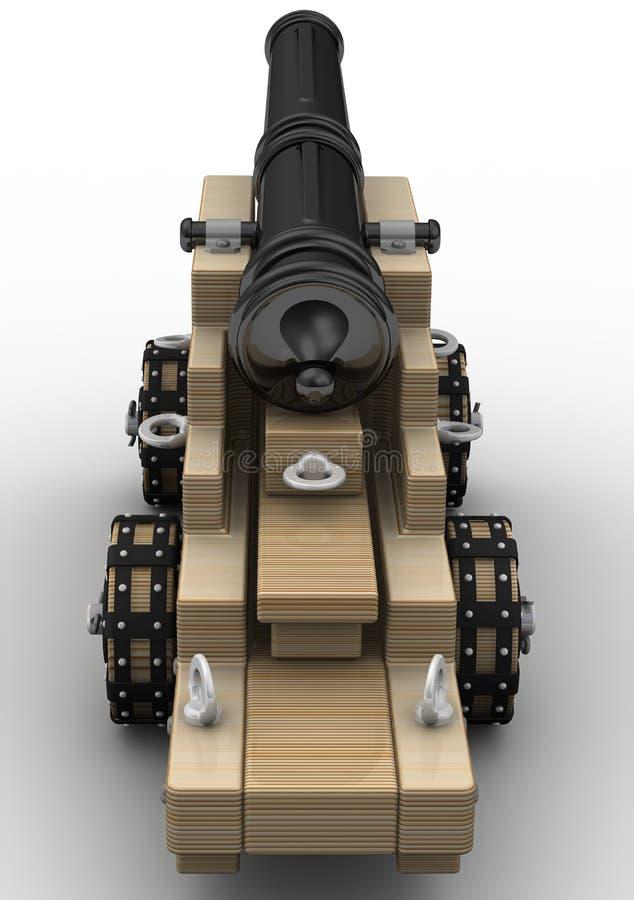 Αρχαίο πυροβόλο όπλο πυροβολικού ελεύθερη απεικόνιση δικαιώματος