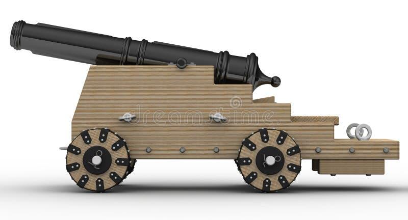 Αρχαίο πυροβόλο όπλο πυροβολικού απεικόνιση αποθεμάτων