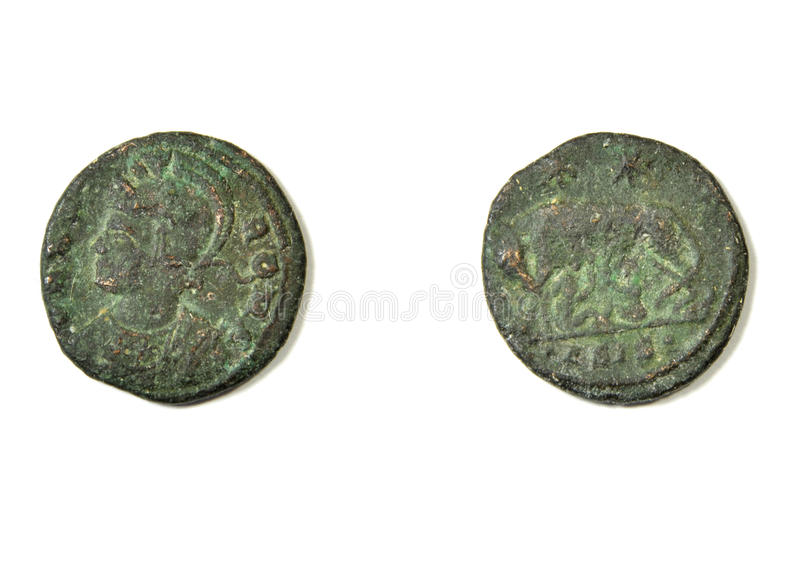 Αρχαίο ρωμαϊκό νόμισμα στοκ φωτογραφία με δικαίωμα ελεύθερης χρήσης