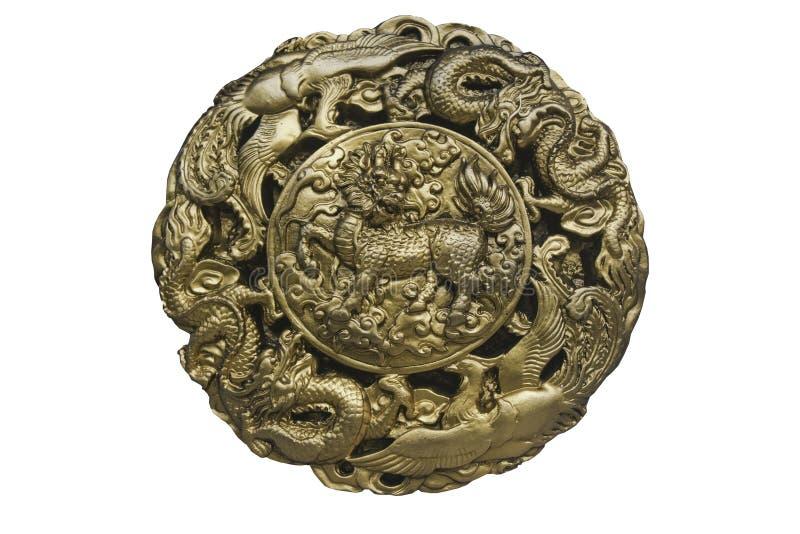 Αρχαίο σχέδιο του δράκου αλόγων στοκ εικόνες