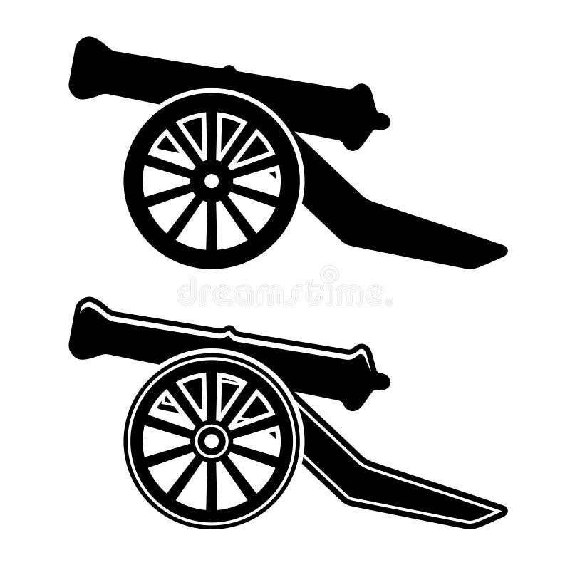 Αρχαίο σύμβολο πυροβόλων απεικόνιση αποθεμάτων