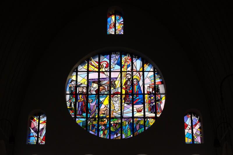 αρχαίο σύνολο σκηνής nativity ειδωλίων στοκ εικόνες