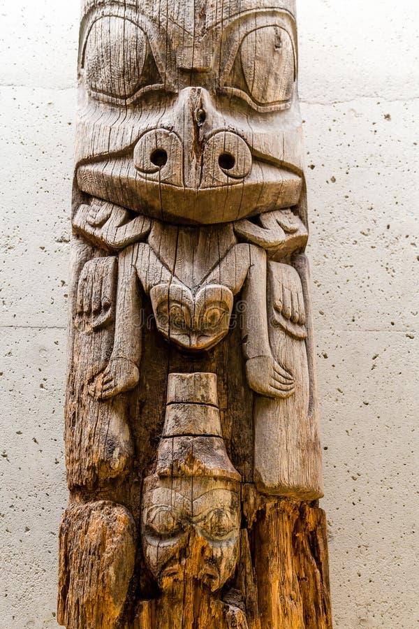 Αρχαίο τοτέμ Inuit στοκ φωτογραφία με δικαίωμα ελεύθερης χρήσης