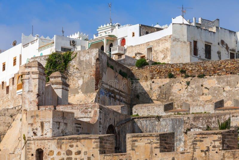 Αρχαίο φρούριο σε Medina, παλαιό Tangier, Μαρόκο στοκ εικόνα με δικαίωμα ελεύθερης χρήσης