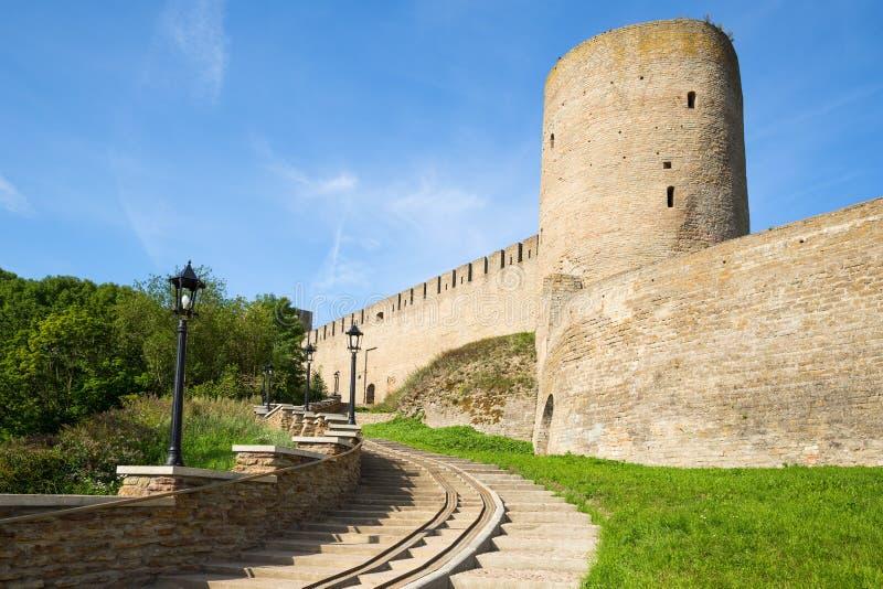 Αρχαίο φρούριο Ivangorod στοκ εικόνα με δικαίωμα ελεύθερης χρήσης