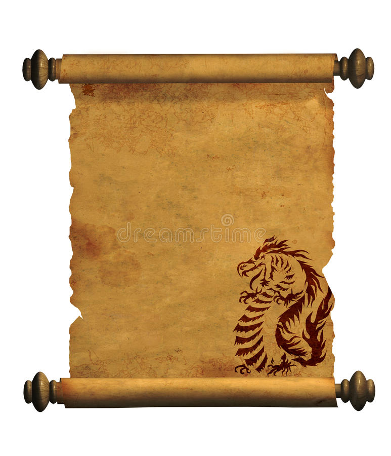 αρχαίο φύλλο περγαμηνής διανυσματική απεικόνιση