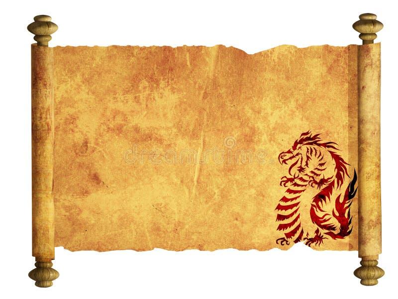 αρχαίο φύλλο περγαμηνής ελεύθερη απεικόνιση δικαιώματος