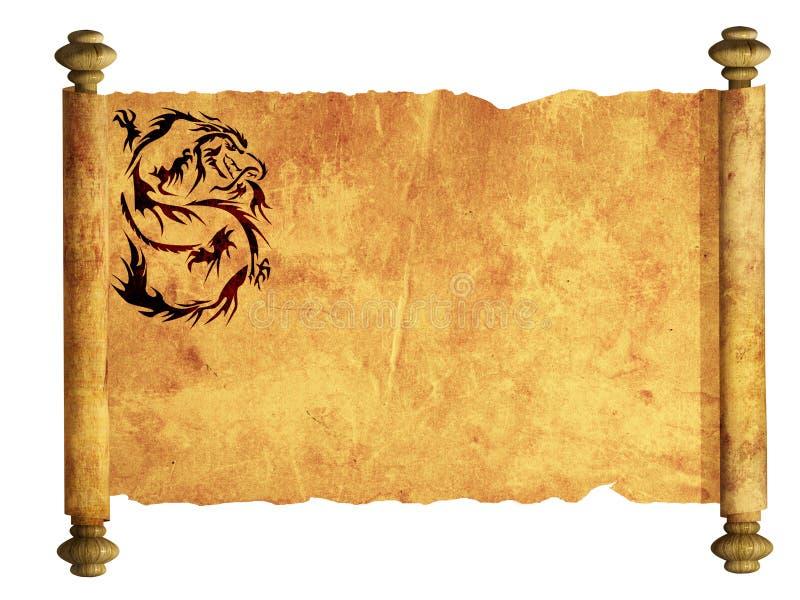 αρχαίο φύλλο περγαμηνής απεικόνιση αποθεμάτων