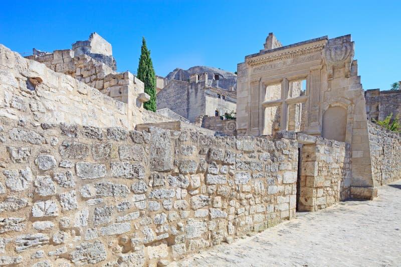 Αρχαίο χωριό Baux de Προβηγκία Les. Γαλλία στοκ εικόνα με δικαίωμα ελεύθερης χρήσης