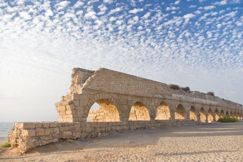 αρχαίο aquaduct Ρωμαίος στοκ εικόνες