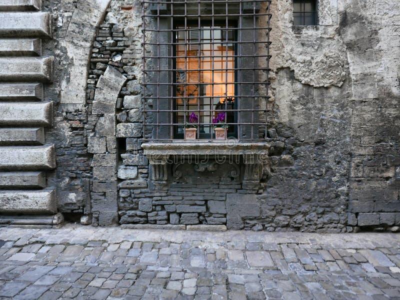 Αρχαίο architeture εξωτερικό σε Narni στοκ φωτογραφία με δικαίωμα ελεύθερης χρήσης