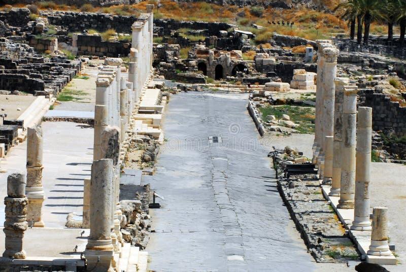 Αρχαίο Beit Shean στοκ εικόνα με δικαίωμα ελεύθερης χρήσης