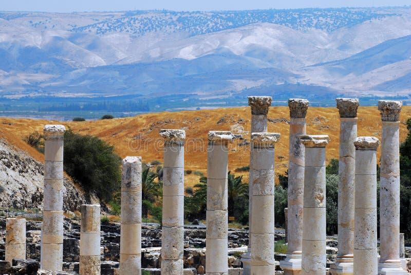 Αρχαίο Beit Shean στοκ φωτογραφία με δικαίωμα ελεύθερης χρήσης
