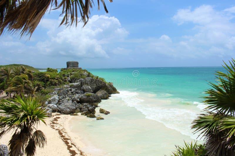 αρχαίο mayan tulum καταστροφών το&upsil στοκ φωτογραφία με δικαίωμα ελεύθερης χρήσης