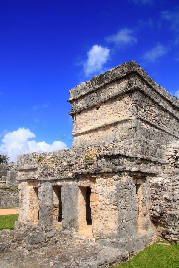 αρχαίο mayan tulum καταστροφών roo quintana τ&o στοκ εικόνα