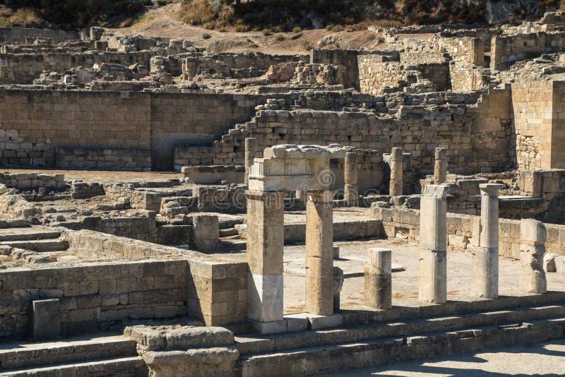 Αρχαιολογική περιοχή αρχαίου Kamiros νησί της Ρόδου, Ελλάδα στοκ φωτογραφία