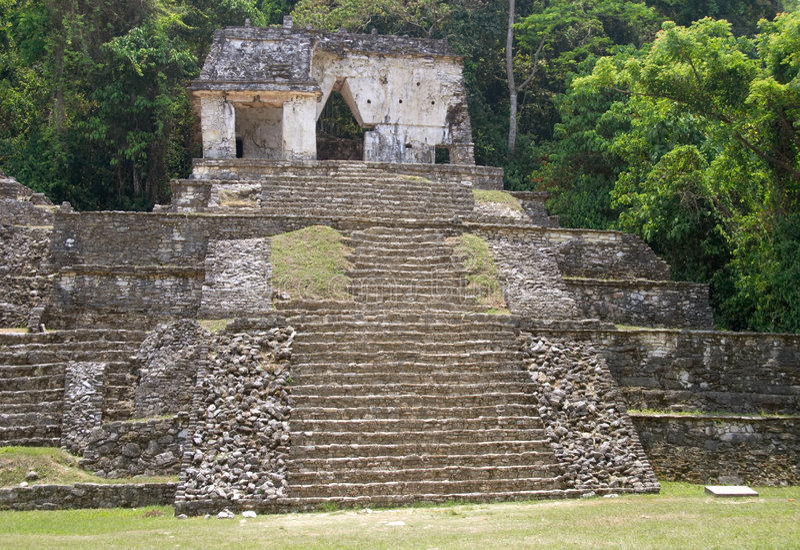 αρχαιολογική περιοχή του Μεξικού palenque στοκ εικόνες