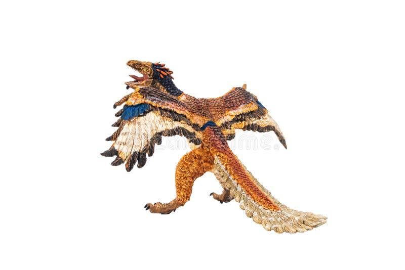 Αρχαιοπτέρυγος, δεινόσαυρος στο άσπρο υπόβαθρο διανυσματική απεικόνιση