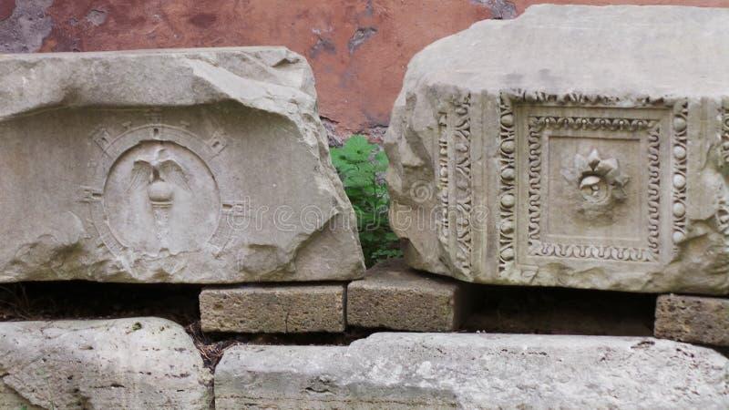 Αρχαιολογικές περιοχές της Ρώμης στοκ εικόνες